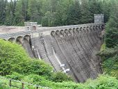 picture of hydroelectric  - Loch Laggan Hydroelectric Dam, near Roy Bridge in the Scottish Highlands. It opened in 1934 and is now a grade A listed building. ** Note: Visible grain at 100%, best at smaller sizes - JPG