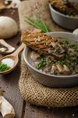 picture of whole-grain  - Mushroom soup with chive and herbs bio healthy whole - JPG