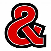 foto of ampersand  - A vector icon of an ampersand symbol - JPG