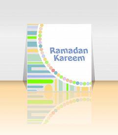 image of ramadan calligraphy  - Arabic Islamic calligraphy of text Ramadan Kareem on abstract background - JPG