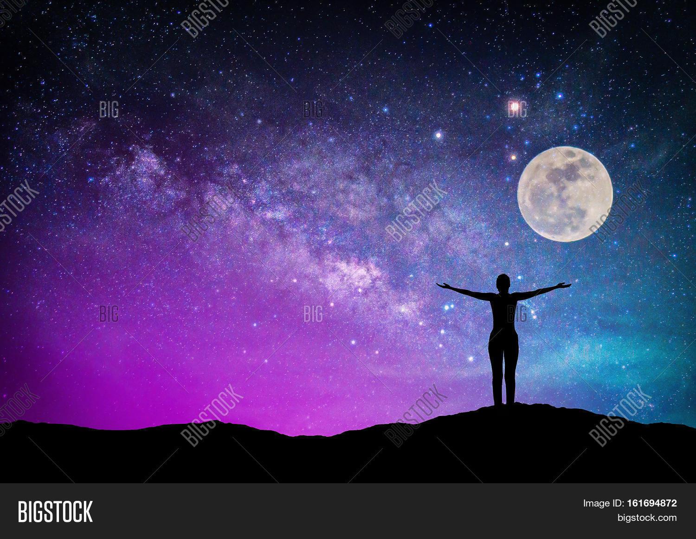 galaxies stars and moon - photo #28