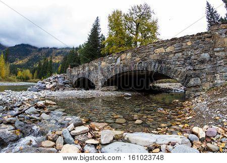 Stone Bridge In Glacier Np