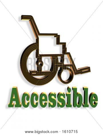 3  Dimensional Wheelchair Accessible Sign