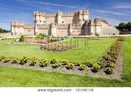 Coca Castle, Segovia Province, Castile and Leon, Spain