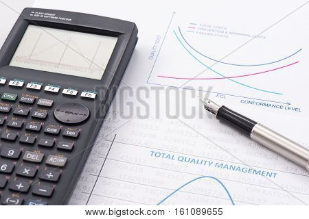 Efficiency of Total Quality Management is shown by graphics.