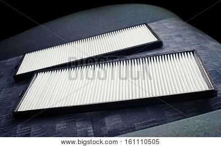 Air filter - on the car seat