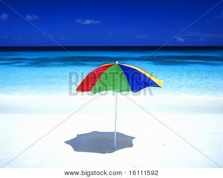 sunshade, Petite Anse, Mahe, Seychelles