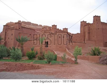 Moroccan Fortress On A Oued, Ait Benhaddou Ksar, Ouarzazate, Morocco