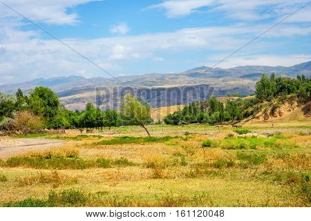 Steppe And Hills In Rural Kazakhstan