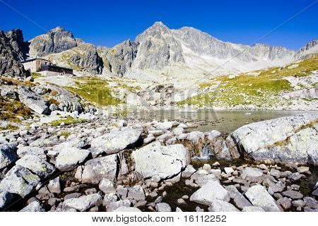 Five Spis Tarns and Teryho Cottage, Vysoke Tatry (High Tatras), Slovakia