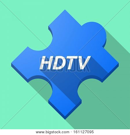 Long Shadow Puzzle Piece With    The Text Hdtv