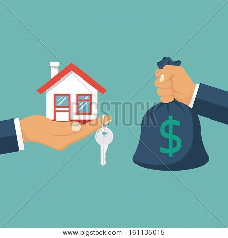 Buying House Vector