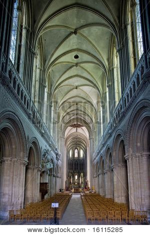 interior of Cathedral Notre Dame, Bayeux, Normandy, France