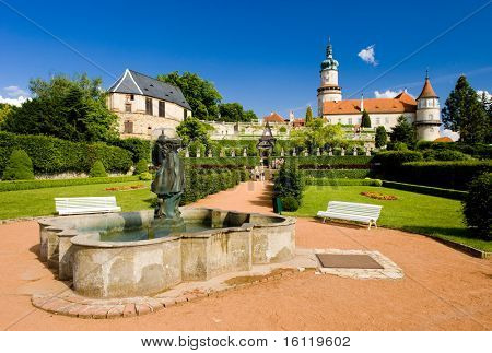 Castle of Nove Mesto nad Metuji with garden, Czech Republic