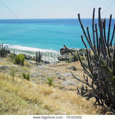 coastline, the Caribbean Sea, Guantanamo Province, Cuba