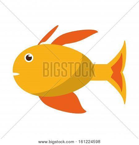 Fish animal cartoon icon. Sea life ecosystem fauna and ocean theme. Isolated design. Vector illustration
