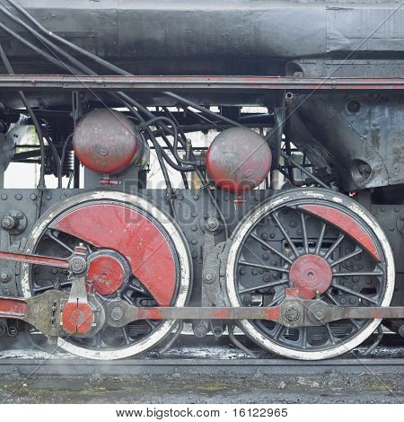 detail of steam locomotive (33-326), Dubrava, Bosnia and Hercegovina