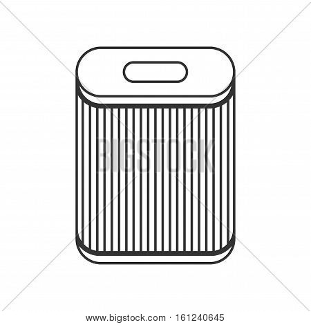 Filter for air purification, dust absorption. Flat icon. Vector illustration