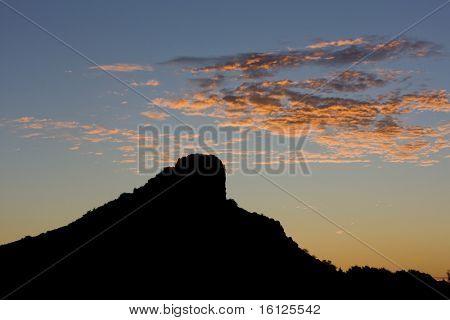 La Roche de Solutre at dawn, Burgundy, France