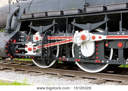 detail of steam locomotive, Visegrad, Bosnia and Herzegovina