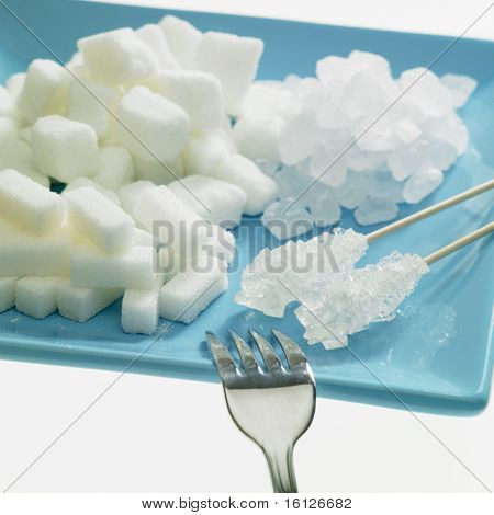 plate with sugar