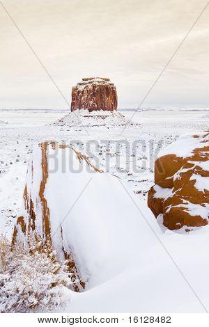 wintr Merrick Butte, Monument Valley National Park, Utah-Arizona, USA