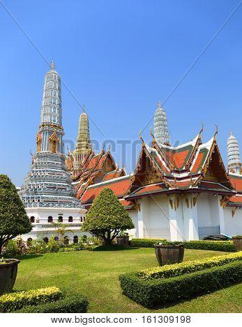 Wat Phra Kaew temple in Grand Palace, Bangkok, Thailand