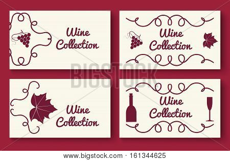 Wine Collection Card Template Set