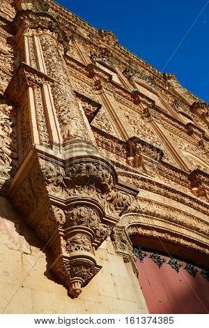 Universidad de Salamanca University facade in Spain exterior image shot from public floor