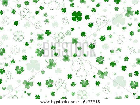 St. Patrick's day background in white and green colors