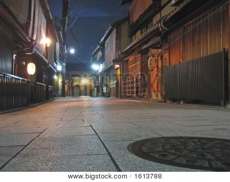Pontoncho Street By Night Famous For Geisha, Kyoto, Japan