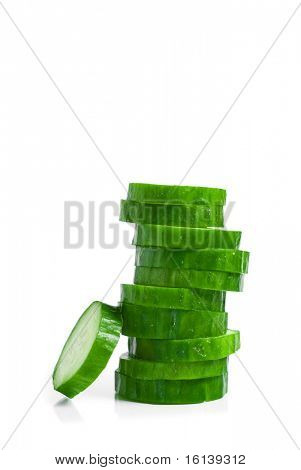 cucumber on isolated