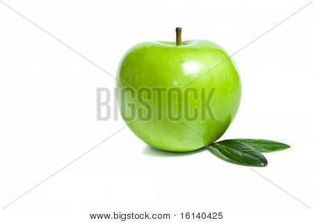 green apple in white background isolated