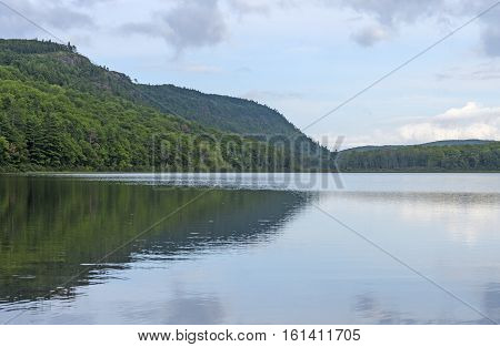 Lake of the Clouds in the Sun in Porcupine Mountains State Park in Michigan