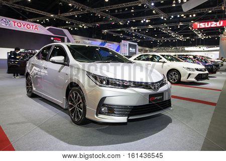 BANGKOK - November 30: Toyota ESport car on display at Motor Expo 2016 on November 30 2016 in Bangkok Thailand.