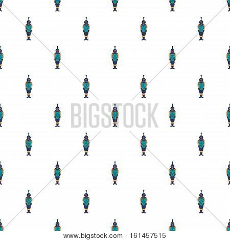Ancient Egyptian warrior pattern. Cartoon illustration of ancient Egyptian warrior vector pattern for web