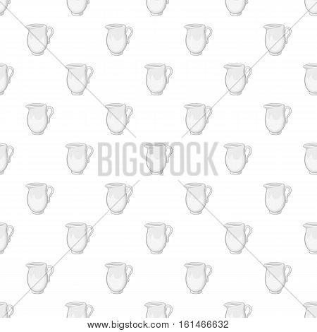 Glass jug pattern. Cartoon illustration of glass jug vector pattern for web