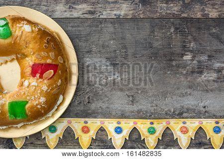 Spanish typical epiphany cake