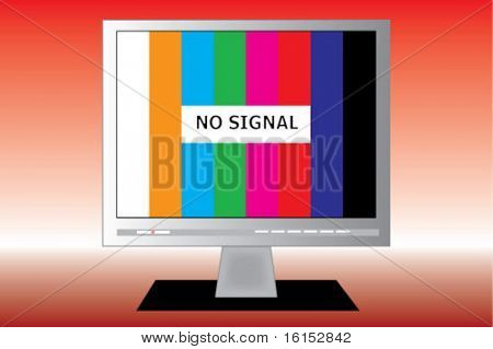 No signal on a TV screen