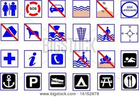 summer beach symbols
