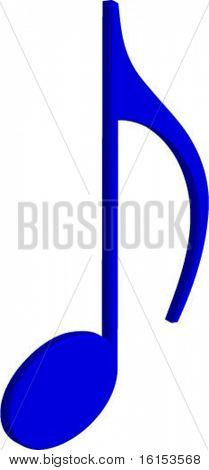3d musical note vector illustration