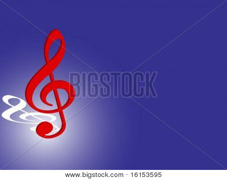 3d treble clef vector illustration