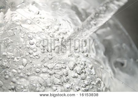 Close-up photo of water splashing