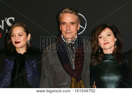 NEW YORK-DEC 13: Marion Cotillard, Jeremy Irons and Essie Davis attend the screening of