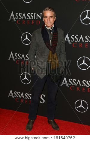 NEW YORK-DEC 13: Actor Jeremy Irons attends the screening of