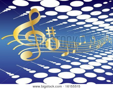 Color design element music - vector illustration