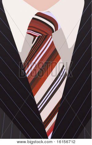 business man in dark suit - vector illustration