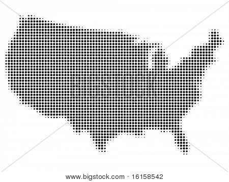 doted american map