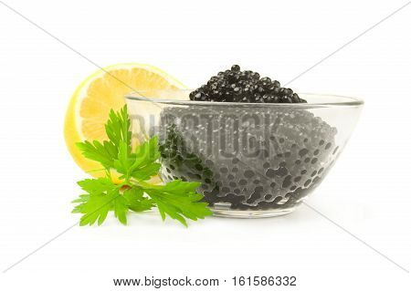 Black roe isolated on a white background with clipping path