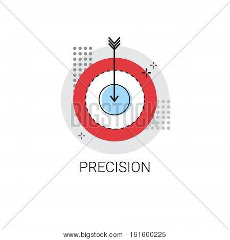 Precision Target Arrow Get Aim Business Concept Icon Vector Illustration